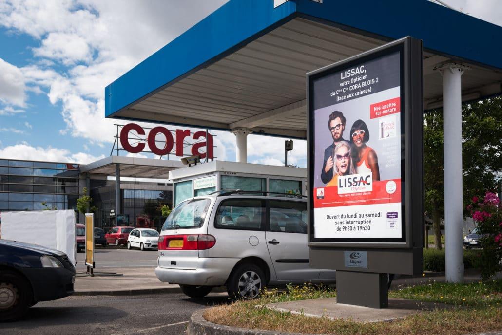 Affichage de la station service Cora à Blois